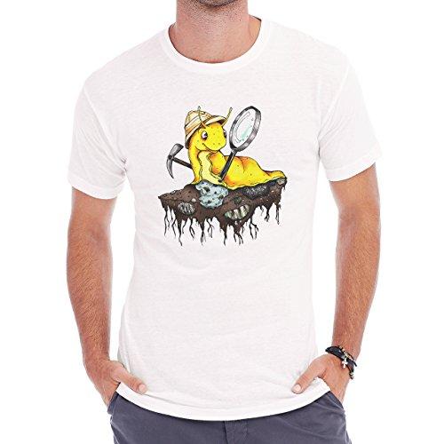 UCSC Banana Slugs Ground Cartoon Yellow Herren T-Shirt Weiß