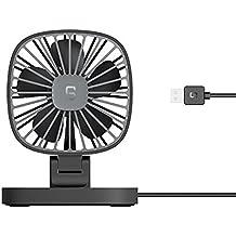 Mini Ventilador USB Silencioso,JiaMeng USB 12V Coche portátil Aire Acondicionado Enfriador de Escritorio Mini