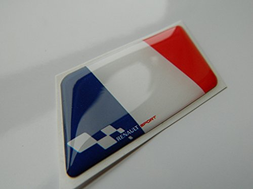 auto-badges - Emblema para carrocería, diseño de la bandera de Francia y logotipo de Renault Sport