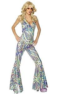 Smiffys-28074S Miffy Disfraz de Reina del Baile, Enterizo con la Espalda y los Brazos Descubiertos, Multicolor, S-EU Tamaño 36-38 (Smiffy