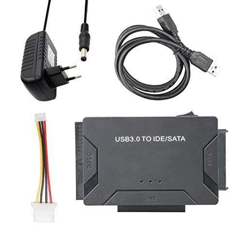 Preisvergleich Produktbild LouiseEvel215 Convertidor de USB 3.0 a IDE / SATA Transferencia de Super 5 Gbit / s Kit adaptador de Disco Duro externo Compatible Con Plug & Play Hasta 4 TB de Disco Duro
