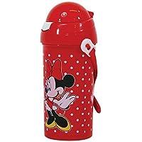 Disney Minnie Mouse Bebidas Termo Dispensador con Pajita y Cadena