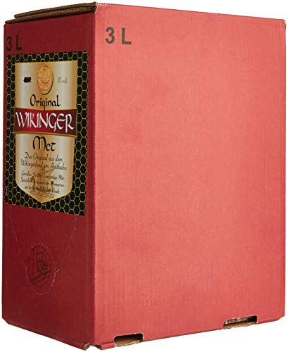 Original Wikinger Met Bag-in-Box (1 x 3 l) - Der Honigwein / Honigmet aus Haithabu - Natur-trunk
