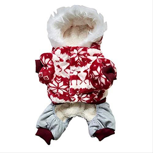 Katzen Teddybär Kostüm Für - HPOWERY Haustier-Kleidung Gemütliche Schneeflocke-Hundekleidungs-Jacken-Katzen-Kostüm-Teddybär-Kapuzenpulli-Hundemantel-Haustier-Kleidung