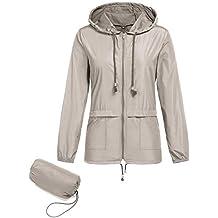 Regenjacke Leichte Jacke Damen Wasserdicht Sommerjacke Softshelljacken Outdoor  Atmungsaktive Dünne Wasserdicht Winddicht ÜBergangsjacke Faltbar 5fa8cc69a8