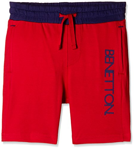 United Colors of Benetton Baby Shorts (16P3094C012QI10Q_Red_12-18 Months)