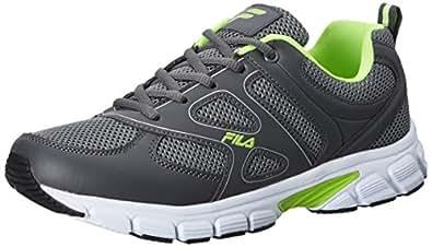 Fila Men's Barrel II Grey and Green Running Shoes - 8 UK/India (42 EU)