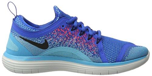Nike Free RN Distance 2, Scarpe da Corsa Uomo Blu (Soar/Black/Hot Punch/Polarized Blue/Chlorine Blue)