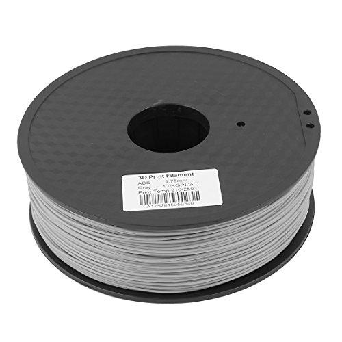 Preisvergleich Produktbild sourcingmap® Grau 1,75mm ABS 1kg/2,2lb 3D Drucker Filament für RepRap Weistek Mendel de