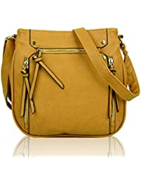 89d30e8859cce LeahWard Women's Faux Leather Cross Body Messenger Bags for Shopping  Holiday Small Medium Bags