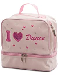 41888c2cd6 Girls Pink Satin School Ballet Love Dance Shoe Hand Bag By Katz Dancewear  KB62