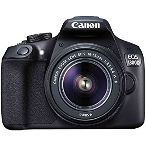 Canon EOS 1300D Power Kit - Cámara réflex 18 MP con objetivo EF-S 18-55mm IS II + 2 baterías LP-E10