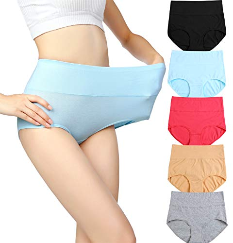 6999cd6d333 cauniss Womens High Waist Cotton Panties C-Section Recovery Postpartum Soft  Stretchy Full Coverage Underwear