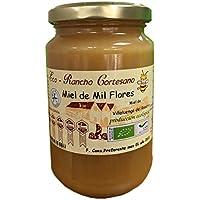 Miel Rancho Cortesano - Miel cruda Mil Flores 500gr Producción Ecológica - Origen Español