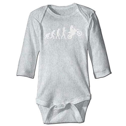 MSGDF Unisex Toddler Bodysuits Evolution Motocross Girls Babysuit Long Sleeve Jumpsuit Sunsuit Outfit Ash