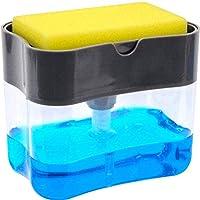Soap Dispenser   Soap Pump & Sponge Caddy   2-in-1 Dish Dispenser With Sponge   Dishwashing Soap Holder   Sponge Rack   13 oz.