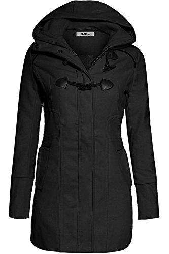 bodilove-womens-sophisticated-duffle-coat-with-detachable-hood-black-m-jw2095-heather-gray-outerwear