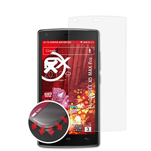atFolix Schutzfolie passend für DOOGEE X5 MAX Pro Folie, entspiegelnde & Flexible FX Bildschirmschutzfolie (3X)