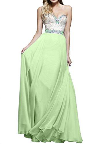 ivyd ressing–Cœur de la découpe strass a ligne fixe Vêtements Prom robe robe du soir - Sauge