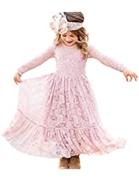 Vestidos de Flores para Bodas Vestido de Encaje de Flores para niñas Vestido  de Flor Blanca 9bd761655b1f