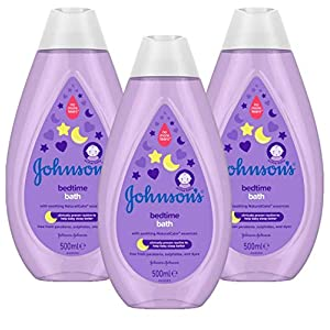 JOHNSON'S Bedtime Bath Multipack - Gentle and Mild for Delicate Skin and Everyday Use - NaturalCalm Aromas - 3 x 500 ml