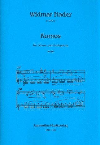 Komos: für Gitarre und Schlagzeug 2 Spielpartituren