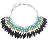 Behave Ibiza Statement Kette - Halskette mit vielen Steinen - Bunte Halskette - Damenschmuck