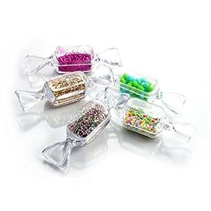 5er set deko box design bonbon aus kunststoff for Deko amazon