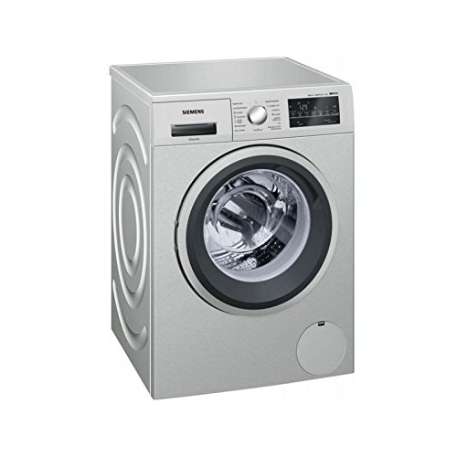 Siemens IQ500�wm12t49�X is Independent Front Loading 8�kg 1200rpm A + + + Stainless Steel���Washing Machine (Freestanding, Front Loading, Stainless Steel, Left, LED, White)