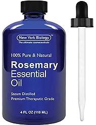 Romero Aceite Esencial–Big 118ml–100% Pure & Natural–PREMIUM grado Terapéutico Aceite de Romero