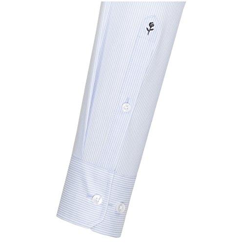 Michaelax-Fashion-Trade Camicia Classiche - A Righe - Classico - Maniche Lunghe - Uomo Blu (12)