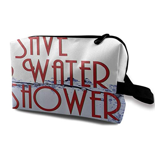 etiktaschen Save Water Multi-Functional Toiletry Makeup Organizer makeup kit bag ()