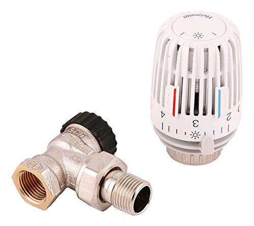 Heimeier 27118 9 Komplettset 1/2 Zoll - Thermostat Ventile