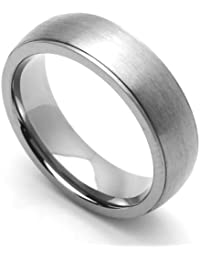 Little Treasures 9MM Comfort Fit Titanium Wedding Band Brushed Classic Domed Ring