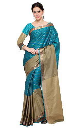 Shree Sanskruti Women's Poly Cotton Saree With Blouse Piece (D J Chikku...