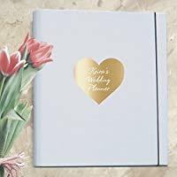 A4 Luxury Ultimate Wedding Planner/Organiser featuring Personalised Metallic Heart - Engagement Gift