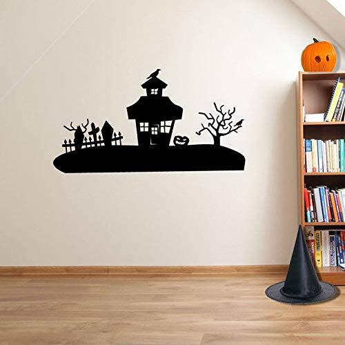 CECILIAPATER Halloween gruselig Haus Party Deko Fenster Aufkleber Dekoration A110