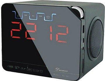 Ducasso Black Boy MultiMedia Speaker with USB,SD, RADIO Clock& REMOTE