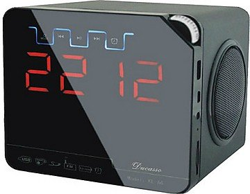 Ducasso Black Boy MultiMedia Speaker with USB,SD, RADIO Clock& REMOTE  available at amazon for Rs.1549