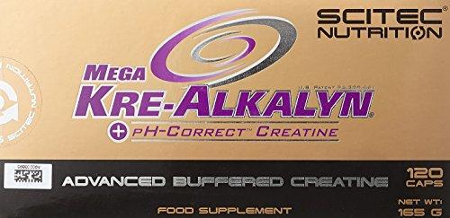 Scitec Nutrition Creatine Mega Kre-Alkalyn, 120 Kapseln, 1er Pack (1 x 165g)