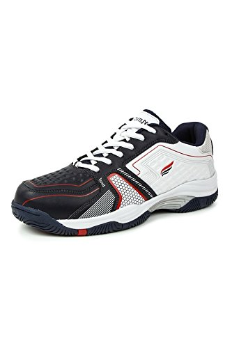 Mmojah Men Athletic-03 WHT/NAVY Tennis Sports Shoes-6