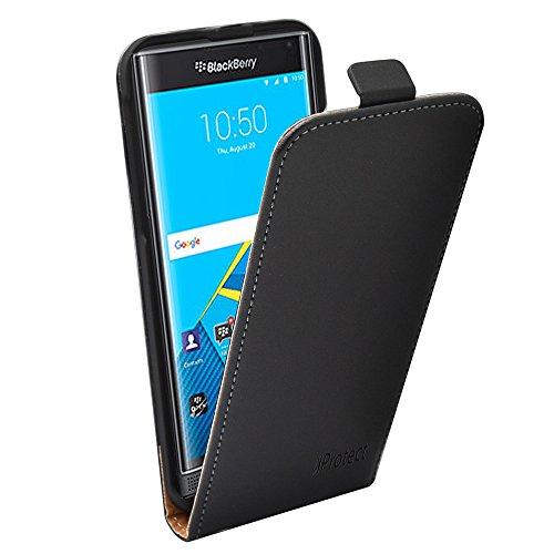 iprotect Blackberry Priv Ledertasche Flip Case in Schwarz