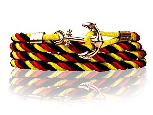 Haoda Anker-Armband Travel-Collection Unisex-Armband Nylon, Fan-Armband für Frauen, Fan-Armband für Männer (Frankreich Kostüm Schmuck)