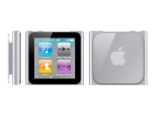 Apple iPod nano MP3-Player 16 GB (6. Generation, Multi-touch Display) silber