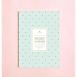 Polka Dot Wochenplaner (keine Datum) • 2019 Wöchentliche Notizbuch • Agenda • Tagebuch • Brautjungfer Geschenk • Reiseplaner • Reiseplaner • Aufgabenliste • Tagesplaner • 2019