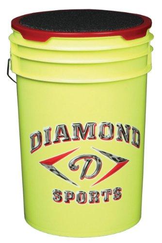 Diamant 6-Gallon Ball Eimer mit Deckel, gelb -