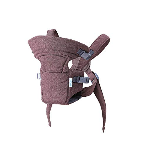 Ergonomic Baby Carrier, Premium & Adjustable Front and Back Child Carrier, Supports Your Baby's Head and Neck (Brown)  Lady Outlet Mall