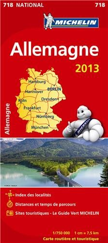 Carte NATIONALE Allemagne 2013 n°718 par Collectif Michelin