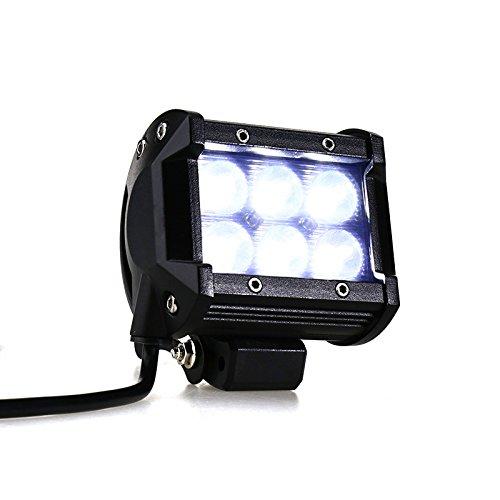 Create Idea Phare de Travail LED Projecteur Feux Antibrouillard Spot Lumiššres pour Voiture Camion 12V 18W Lampes