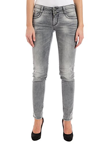 Timezone Damen Slim Jeanshose EnyaTZ, Gr. W32/L32, Grau (light grey wash 2085) (Light Wash Frauen)